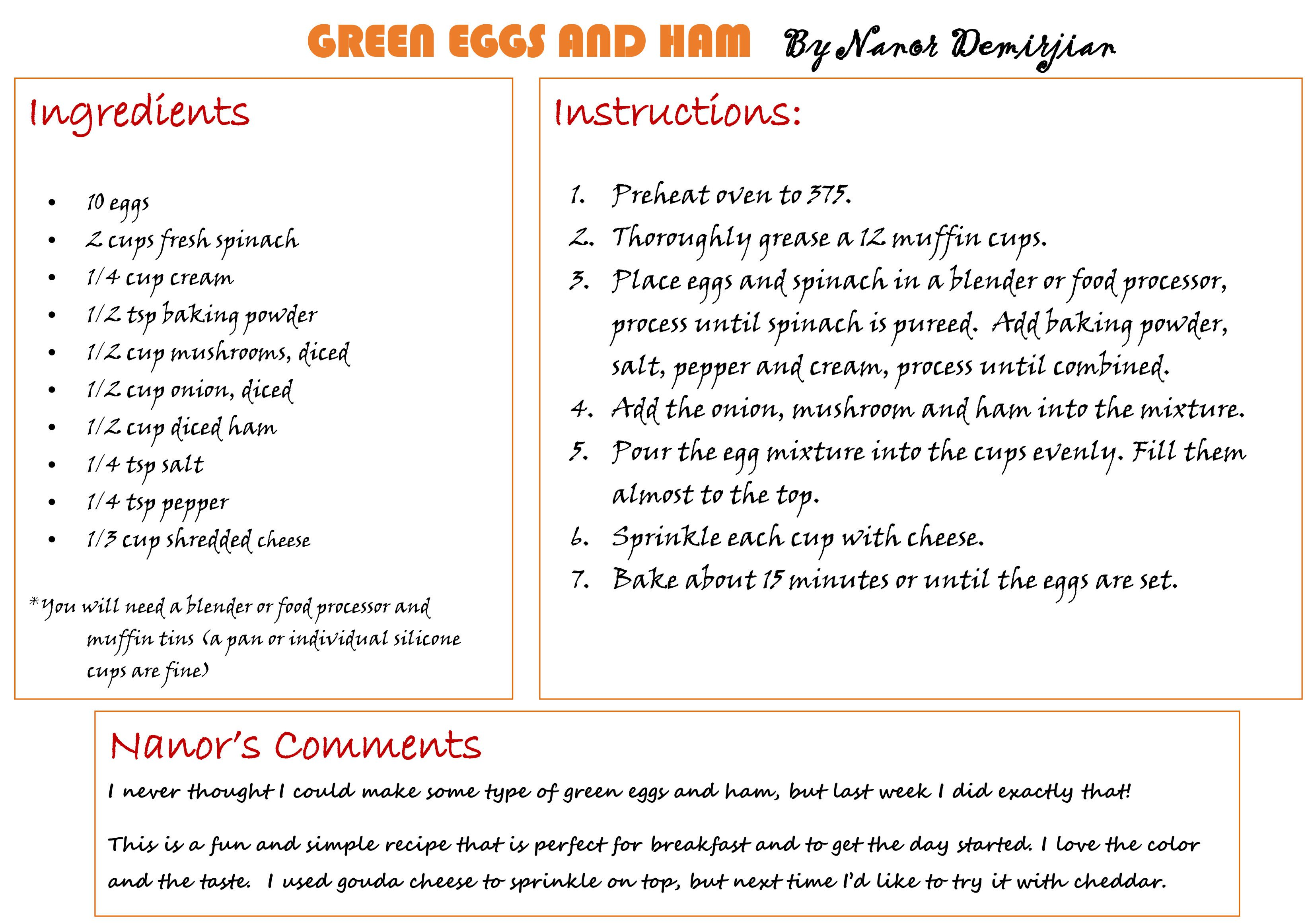 Family book club recipe of the month september green eggs and you can also download it in pdf format the family book club pairs food forumfinder Choice Image