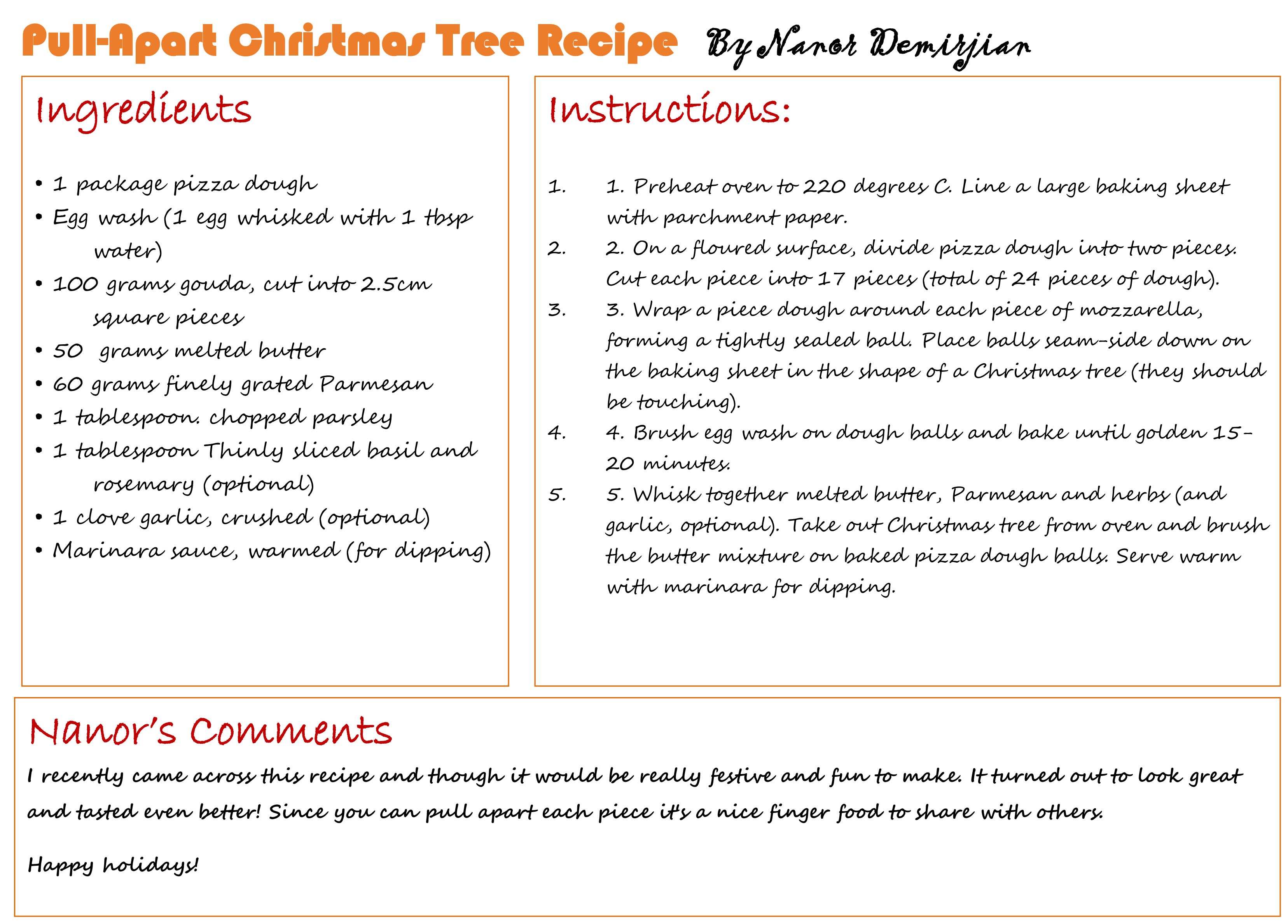Family book club recipe of the month december pull apart you can also download it in pdf format the family book club pairs food forumfinder Images